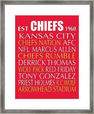 Kansas City Chiefs Framed Print