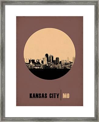 Kansas City Circle Poster 2 Framed Print