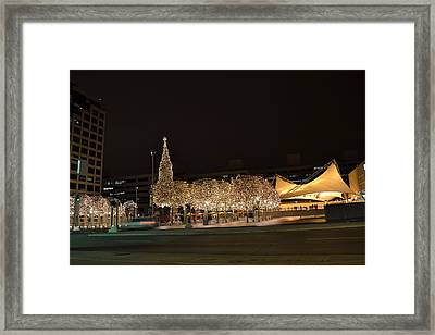 Kansas City Crown Center Framed Print by Shelley Wood