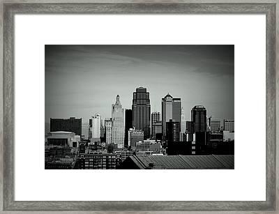 Framed Print featuring the photograph Kansas City  by Karen Kersey
