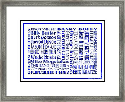 Kansas City Royals The Boys In Blue 2014 Framed Print by Andee Design