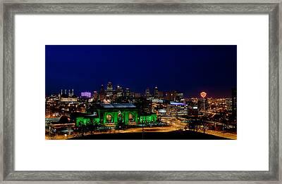 Kansas City Skyline Framed Print by Sennie Pierson
