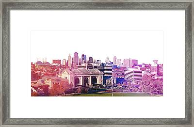 Kansas City Skyline Framed Print by Stacia Blase