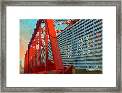 Kansas City Train Bridge - Pencoyd Railroad Bridge  Framed Print