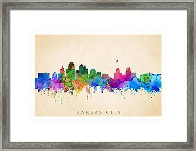 Kansas Cityscape Framed Print
