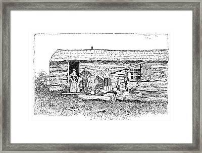 Kansas Early House, 1854 Framed Print by Granger