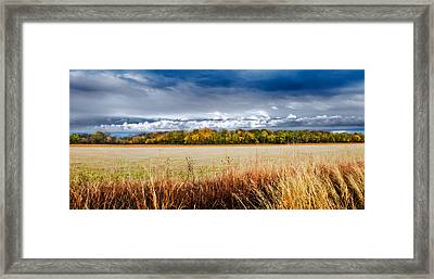 Kansas Fall Landscape Framed Print