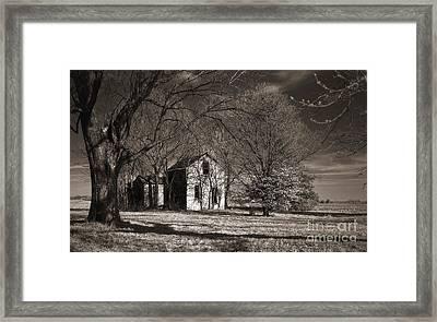 Kansas Farm House I Framed Print