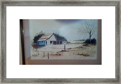Framed Print featuring the painting Kansas Farm by Richard Benson