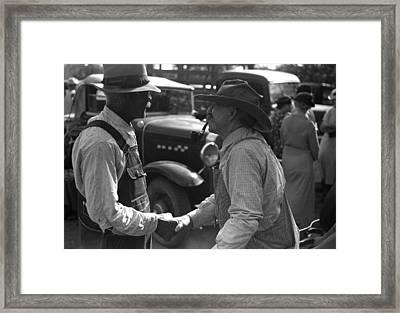 Kansas Farmers, 1938 Framed Print by Granger