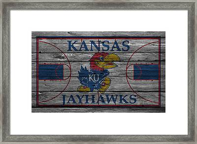 Kansas Jayhawks Framed Print by Joe Hamilton