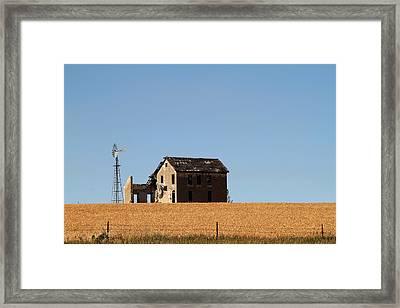 Kansas Landscape Framed Print