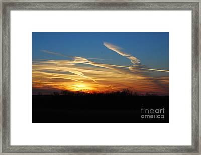 Kansas November Sunset Framed Print