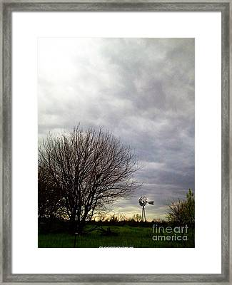 Kansas Prairie Windmill Framed Print