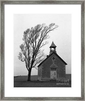 Kansas Schoolhouse Framed Print