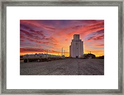Kansas Skyfire Framed Print