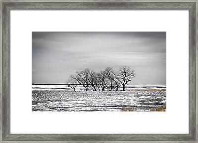 Kansas Snow Framed Print