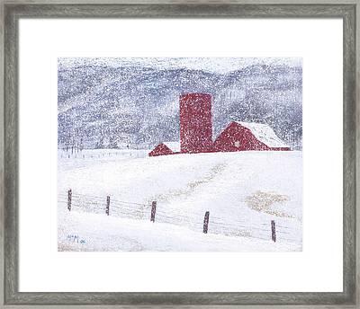 Kansas Snow Storm Framed Print by Garry McMichael