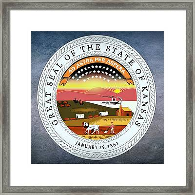 Kansas State Seal Framed Print by Movie Poster Prints