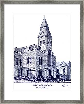 Kansas State University Framed Print by Frederic Kohli