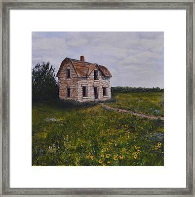 Kansas Stone House Framed Print