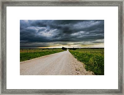 Kansas Storm In June Framed Print