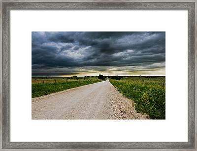 Kansas Storm In June Framed Print