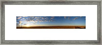 Kansas Sunrise Framed Print