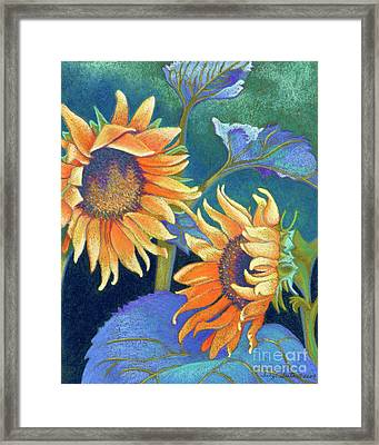 Kansas Suns Framed Print by Tracy L Teeter