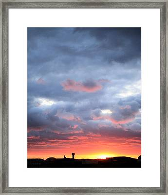 Kansas Sunset Framed Print