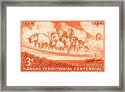 Kansas Territorial Centennial Framed Print by Lanjee Chee