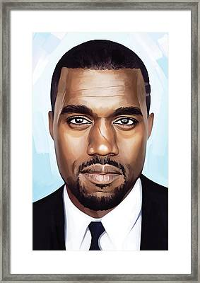 Kanye West Artwork Framed Print by Sheraz A