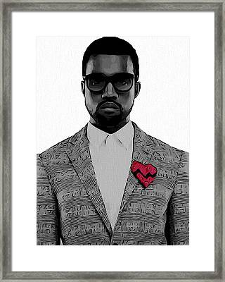 Kanye West  Framed Print by Dan Sproul