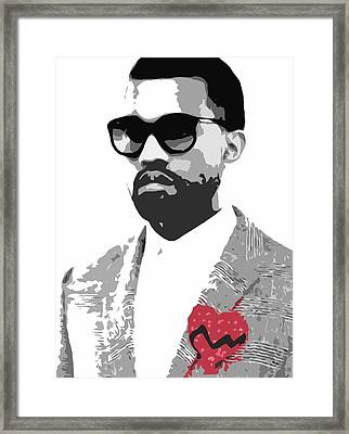 Kanye West Framed Print by Mike Maher