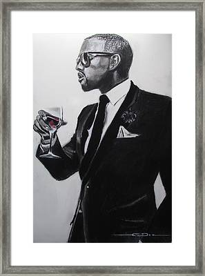 Kanye West - I'm Just Amazing Framed Print by Eric Dee