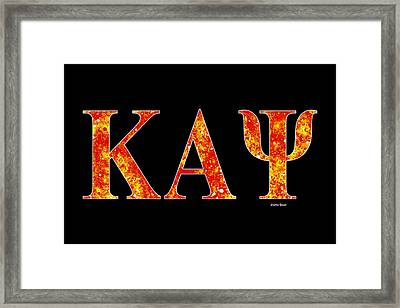 Framed Print featuring the digital art Kappa Alpha Psi - Black by Stephen Younts