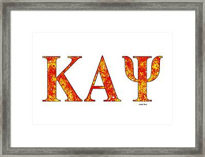 Framed Print featuring the digital art Kappa Alpha Psi - White by Stephen Younts