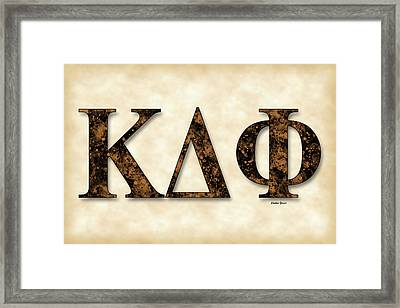 Kappa Delta Phi - Parchment Framed Print by Stephen Younts
