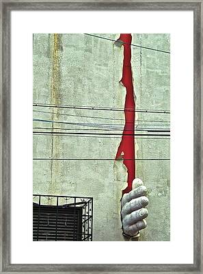 Karate Chop Framed Print by Jocelyn Kahawai