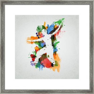 Karate Fighter Framed Print