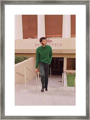 Kareem Abdul Jabbar Coming Up Stairs Framed Print by Retro Images Archive