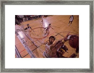 Kareem Abdul Jabbar Denies Wilt Chamberlain Framed Print by Retro Images Archive