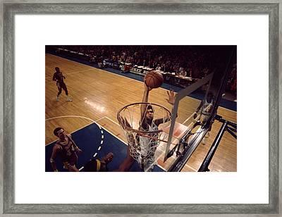 Kareem Abdul Jabbar Easy Layup Framed Print by Retro Images Archive