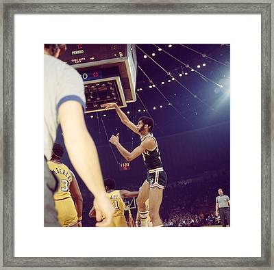 Kareem Abdul Jabbar Follow Through Framed Print by Retro Images Archive