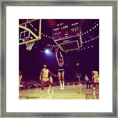 Kareem Jump Shot Framed Print