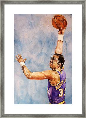 Kareem Abdul Jabbar Framed Print by Michael  Pattison