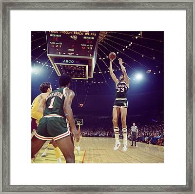 Kareem Abdul Jabbar Shooter Framed Print by Retro Images Archive