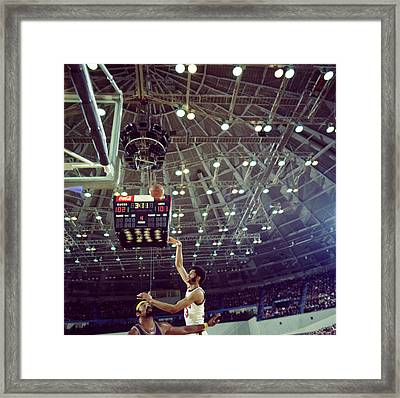 Kareem Abdul Jabbar Shooting Quick Framed Print by Retro Images Archive