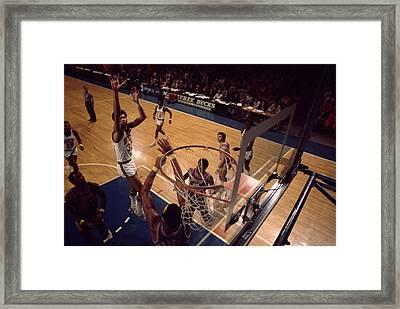 Kareem Abdul Jabbar Shoots Jumper Framed Print by Retro Images Archive