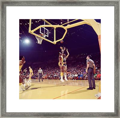 Kareem Abdul Jabbar  Framed Print by Retro Images Archive